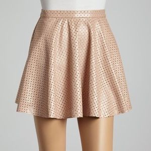 NWT - Blush Leather Circle Skirt